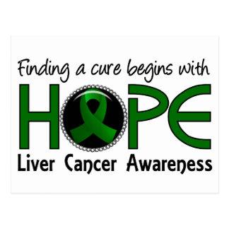 La curación comienza con el cáncer de hígado de la tarjetas postales