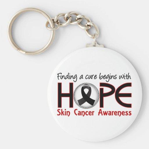 La curación comienza con el cáncer de piel de la e llaveros personalizados