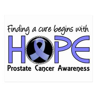 La curación comienza con el cáncer de próstata de postales