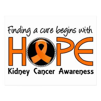 La curación comienza con el cáncer del riñón de la tarjeta postal