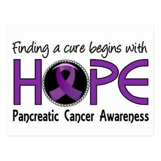 La curación comienza con el cáncer pancreático de postal
