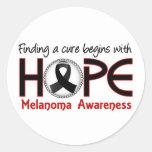 La curación comienza con el melanoma de la esperan etiqueta
