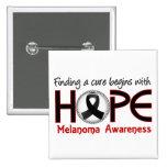 La curación comienza con el melanoma de la esperan pin