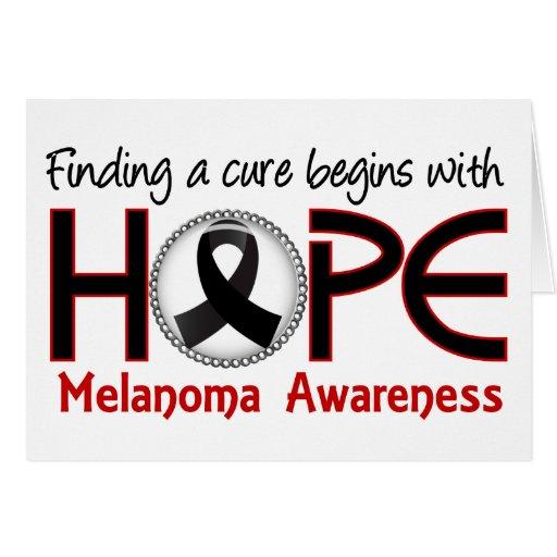 La curación comienza con el melanoma de la esperan felicitación