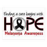 La curación comienza con el melanoma de la esperan tarjeta postal
