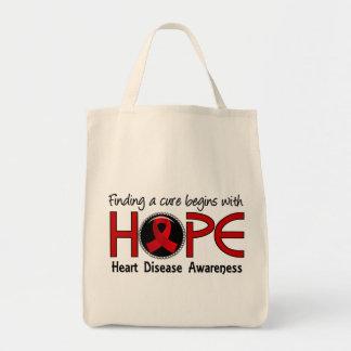 La curación comienza con enfermedad cardíaca de la bolsa tela para la compra