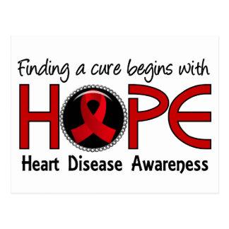 La curación comienza con enfermedad cardíaca de la tarjeta postal