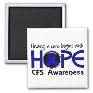 La curación comienza con la esperanza 5 CFS Imán Cuadrado