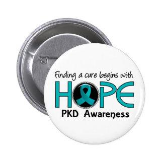 La curación comienza con la esperanza 5 PKD Pin