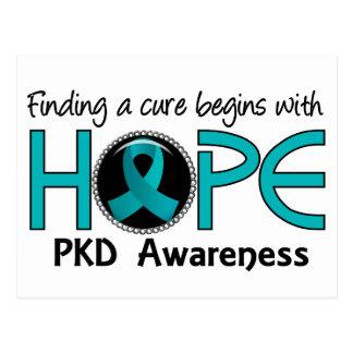 La curación comienza con la esperanza 5 PKD Tarjeta Postal