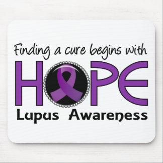 La curación comienza con lupus de la esperanza 5 alfombrilla de ratón
