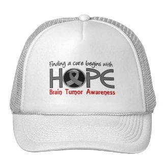 La curación comienza con tumor cerebral de la espe gorras de camionero