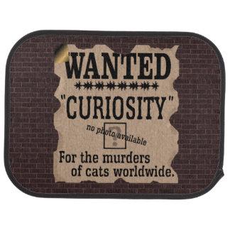 La curiosidad mató al gato poster querido - alfombrilla de auto