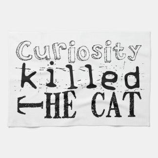 La curiosidad mató al gato - proverbio toallas de mano