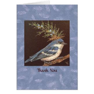 la curruca cerúlea le agradece cardar tarjeta de felicitación