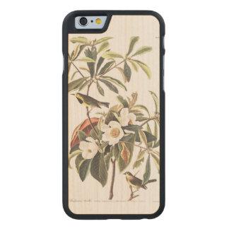 La curruca de Bachman de la placa 185 de Audubon Funda De iPhone 6 Carved® De Arce