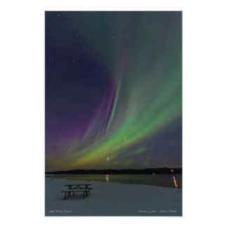 La curva de la aurora - lago Harding, AK Fotografía
