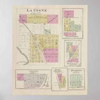 La Cygne, Uniontown, Hiattville, Fulton, Kansas Posters