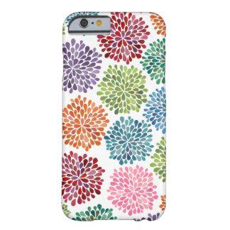 La dalia de la acuarela del arco iris florece la funda barely there iPhone 6