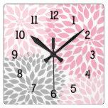 La dalia moderna florece rosa y gris gris relojes