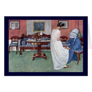 La dama de honor 1910 tarjeta de felicitación