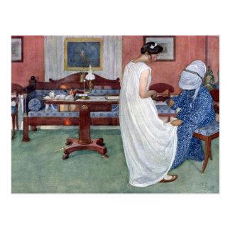 La dama de honor 1910 tarjeta postal
