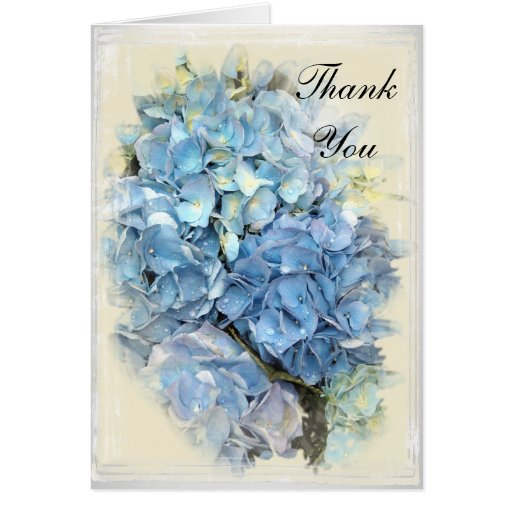 La dama de honor azul del Hydrangea le agradece ta Tarjeta De Felicitación