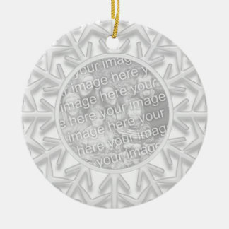 La dama de honor del copo de nieve le agradece orn ornamento de navidad