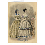 La dama de honor del vintage le agradece tarjeta d