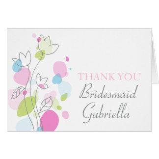 La dama de honor floral gráfica del boda le agrade tarjeta