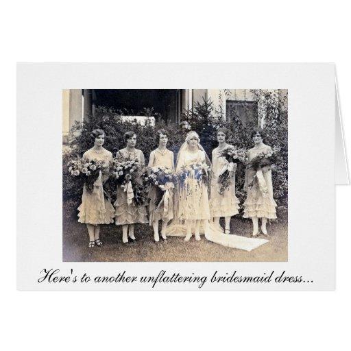La dama de honor le agradece Card2 Tarjeta Pequeña