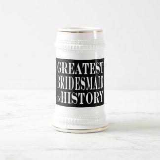 La dama de honor más grande de las mejores damas d jarra de cerveza
