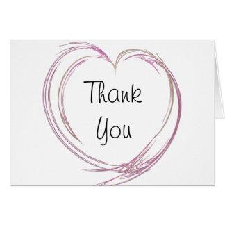 La dama de honor rosada del corazón le agradece ta
