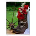 La dama de honor rústica de las botas de vaquero tarjeta de felicitación