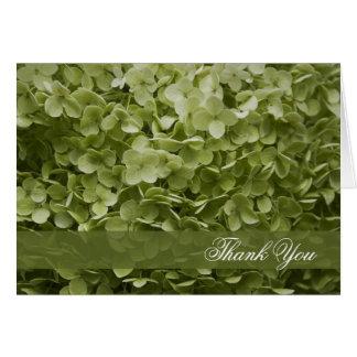 La dama de honor verde del Hydrangea de Annabelle Tarjeta Pequeña