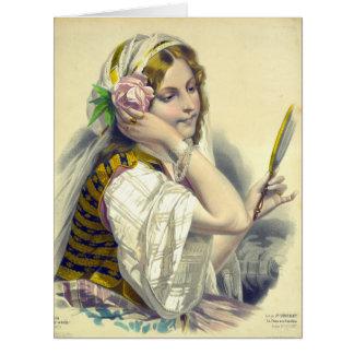 La Dame aux Camélias 1850 Card