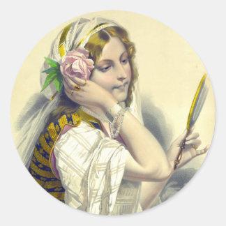 La Dame aux Camélias 1850 Classic Round Sticker