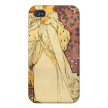 """La Dame Aux Camelias Alfons Mucha 1895 Cases For iPhone 4"