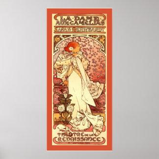 La Dame Aux Camelias ~ Alphonse Mucha Poster