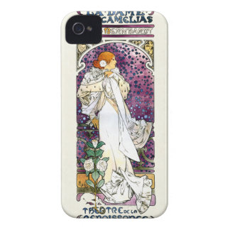 la dame aux camélias by Alfons Mucha 1896 iPhone 4 Cover