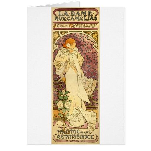 La dame aux camelias greeting card