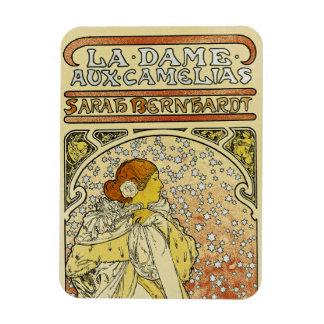 La Dame aux Camelias Rectangle Magnet