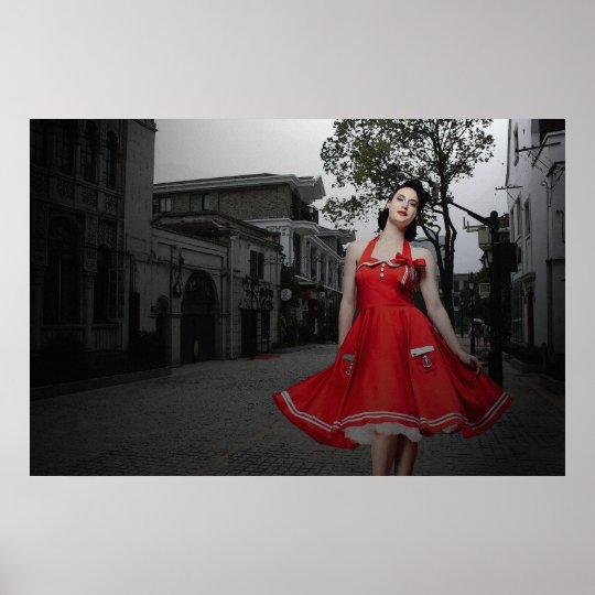 La Dame en Rouge 36 x 24 Poster