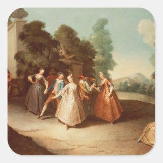 La Danse Pegatina Cuadrada