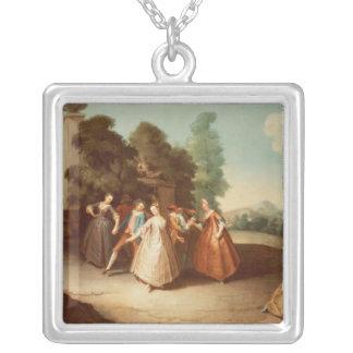 La Danse Square Pendant Necklace