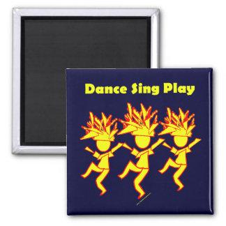 La danza canta el juego imán cuadrado