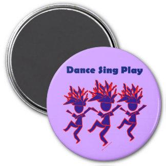 La danza canta el juego imán de frigorífico