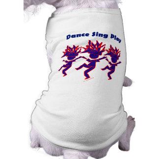 La danza canta el juego playera sin mangas para perro