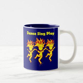 La danza canta el juego taza dos tonos