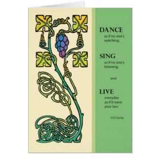 La danza céltica 2704 canta vivo tarjeta de cumpl